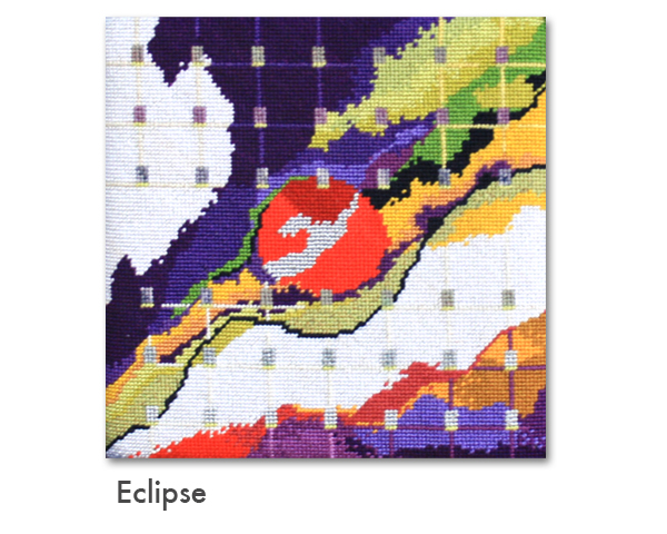 Eclipse needlepoint by Connie Pickering Stover