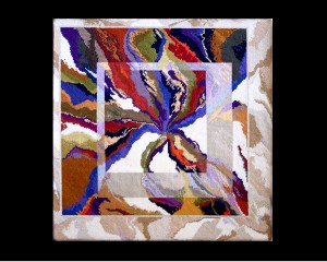 """""""No Boundaries"""" needlepoint canvas, privately owned."""