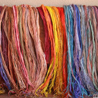 Hand Painted Threads created by students in-studio.