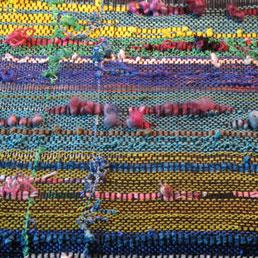 Saori style weaving