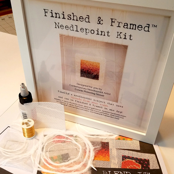 Finished & Framed needlepoint kit