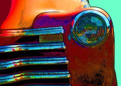 old rusty truck - orange